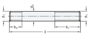 DIN 6379 Stiftschraube für T-Nutensteine Stahl brüniert
