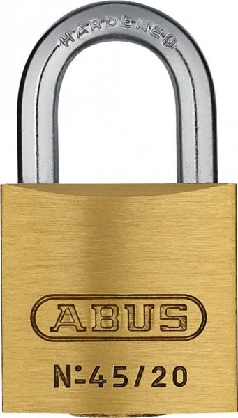 Abus Messing Vorhangschloss 45 inkl. 2 Schlüssel verschiedenschließend