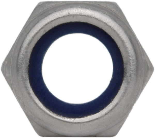 DIN 985/ISO 10511 Sechskantmutter Edelstahl A4 selbstsichernd niedrige Form