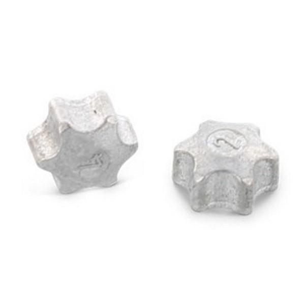 Einschlagsterne aus Zink für TORX-Schrauben