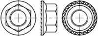 DIN 6923 Sechskantmutter mit Flansch und Sperrverzahnung Edelstahl A4