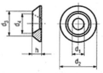 Senkscheibe Aluminium SN603