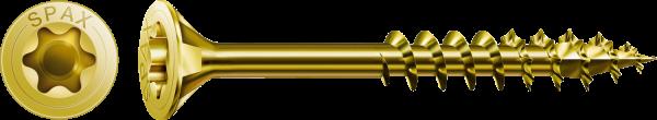 SPAX Universalschraube, Teilgewinde, Senkkopf, YELLOX T-STAR plus