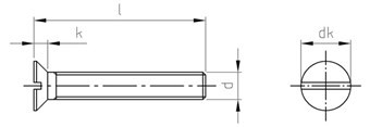 DIN 963 Senkschraube Schlitz Aluminium