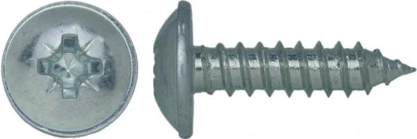DIN 968 C Linsen-Blechschraube mit Bund Kreuzschlitz Z Stahl verzinkt