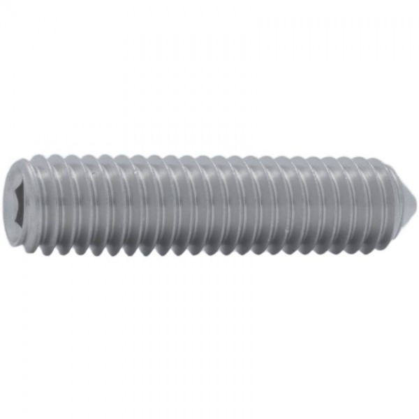 DIN 914/ISO 4027 Gewindestift Titan Grade 2 mit Innensechskant und Spitze