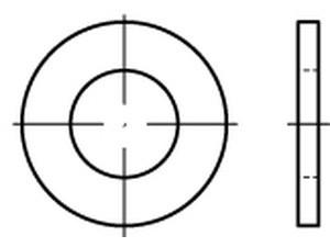 DIN 125 A/ISO 7089 Unterlegscheibe Messing M24
