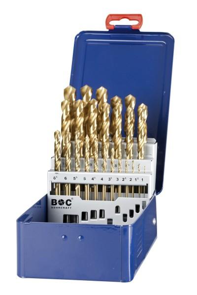 Bohrcraft Spiralbohrer HSS-Tin DIN 338 25 teilig in Industriekassette