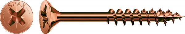 Spax Universalschraube, Teilgewinde, Senkkopf, Kreuzschlitz Z, Brüniert