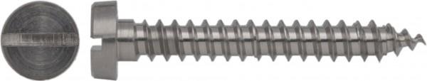 DIN 7971 C Zylinder-Blechschraube mit Schlitz Titan Grade 2