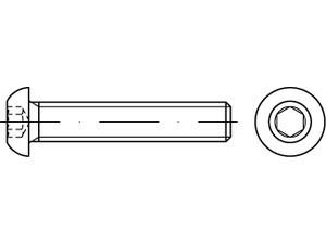 ISO 7380-1 Linsenkopfschraube Innensechskant Edelstahl A4