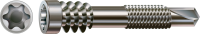 Spax Terrassenschraube f. ALU-Unterkonstruktionen, Ø 5 mm, Edelstahl A2, Zylinderkopf, Fixiergewinde