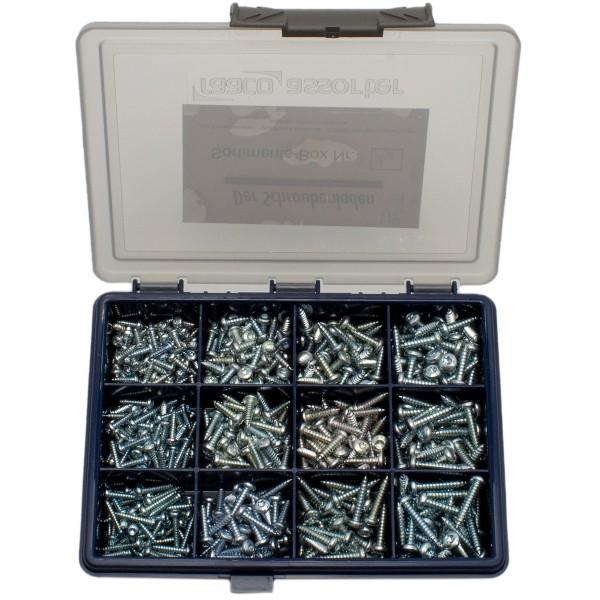 Blechschrauben-Sortiment A-1, ISO 14585, Linsenkopf, TORX, Stahl verzinkt, 570tlg.